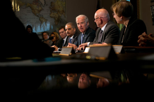 Biden meets with advocates of gun victims